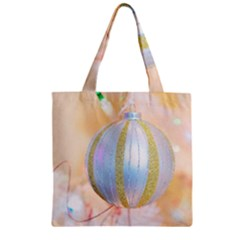 Sphere Tree White Gold Silver Zipper Grocery Tote Bag