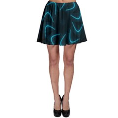 Background Abstract Decorative Skater Skirt