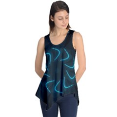 Background Abstract Decorative Sleeveless Tunic