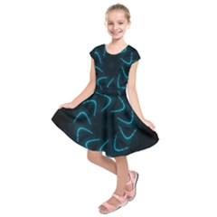 Background Abstract Decorative Kids  Short Sleeve Dress