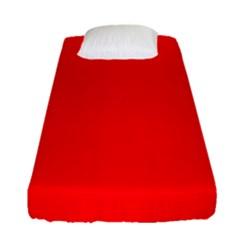 Solid Christmas Red Velvet Fitted Sheet (single Size) by PodArtist