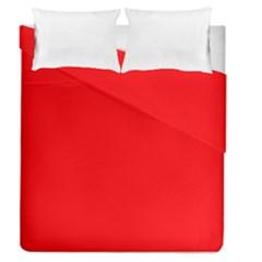 Solid Christmas Red Velvet Duvet Cover Double Side (queen Size) by PodArtist