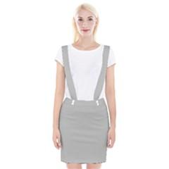 Solid Christmas Silver Braces Suspender Skirt