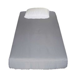 Solid Christmas Silver Fitted Sheet (single Size)