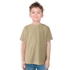 Solid Christmas Gold Kids  Cotton Tee