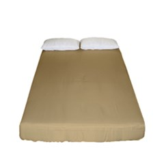 Solid Christmas Gold Fitted Sheet (full/ Double Size)