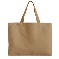 Solid Christmas Gold Zipper Mini Tote Bag by PodArtist