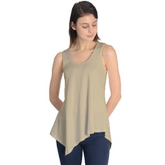 Solid Christmas Gold Sleeveless Tunic