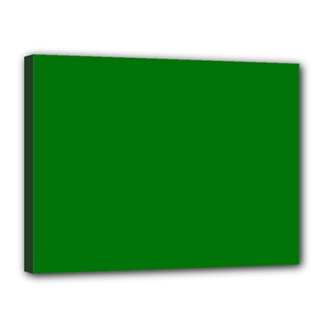 Solid Christmas Green Velvet Classic Colors Canvas 16  X 12  by PodArtist