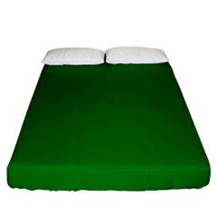 Solid Christmas Green Velvet Classic Colors Fitted Sheet (king Size) by PodArtist