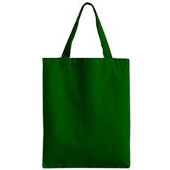 Solid Christmas Green Velvet Classic Colors Zipper Classic Tote Bag by PodArtist