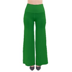 Solid Christmas Green Velvet Classic Colors Pants by PodArtist