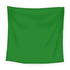 Solid Christmas Green Velvet Classic Colors Square Tapestry (large) by PodArtist
