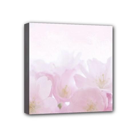 Pink Blossom Bloom Spring Romantic Mini Canvas 4  X 4  by BangZart