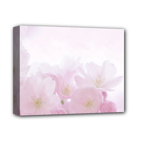 Pink Blossom Bloom Spring Romantic Deluxe Canvas 14  X 11  by BangZart