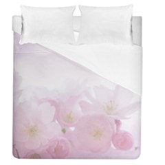 Pink Blossom Bloom Spring Romantic Duvet Cover (queen Size) by BangZart