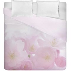 Pink Blossom Bloom Spring Romantic Duvet Cover Double Side (king Size) by BangZart
