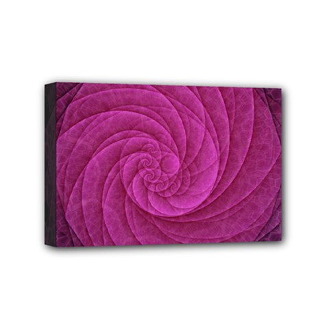 Purple Background Scrapbooking Abstract Mini Canvas 6  X 4  by BangZart