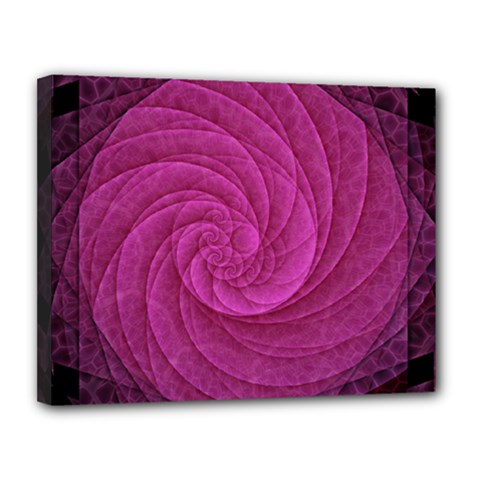 Purple Background Scrapbooking Abstract Canvas 14  X 11  by BangZart
