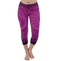 Purple Background Scrapbooking Abstract Capri Winter Leggings