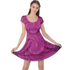 Purple Background Scrapbooking Abstract Cap Sleeve Dresses