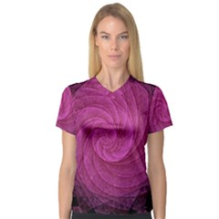 Purple Background Scrapbooking Abstract Women s V Neck Sport Mesh Tee