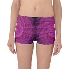 Purple Background Scrapbooking Abstract Boyleg Bikini Bottoms