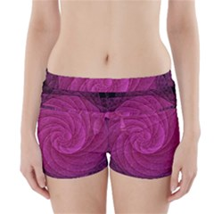 Purple Background Scrapbooking Abstract Boyleg Bikini Wrap Bottoms
