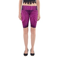 Purple Background Scrapbooking Abstract Yoga Cropped Leggings