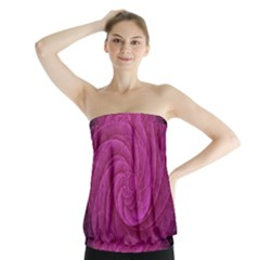 Purple Background Scrapbooking Abstract Strapless Top
