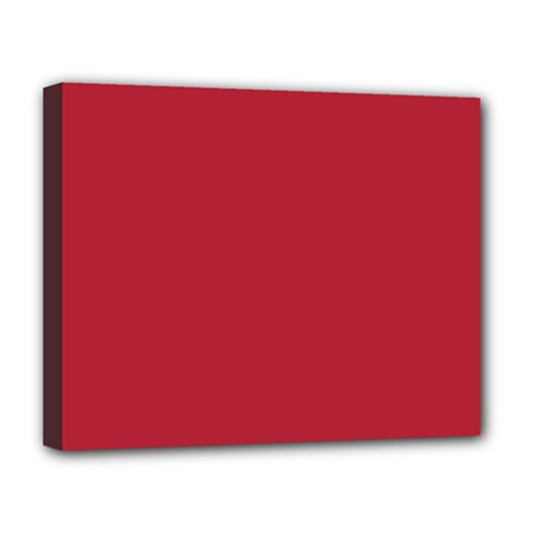 Usa Flag Red Blood Red Classic Solid Color  Deluxe Canvas 20  X 16   by PodArtist