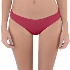 Usa Flag Red Blood Red Classic Solid Color  Reversible Hipster Bikini Bottoms by PodArtist
