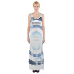 Center Centered Gears Visor Target Maxi Thigh Split Dress