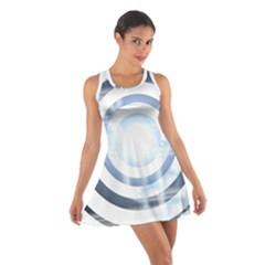 Center Centered Gears Visor Target Cotton Racerback Dress