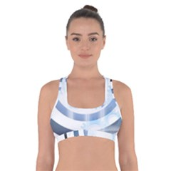 Center Centered Gears Visor Target Cross Back Sports Bra