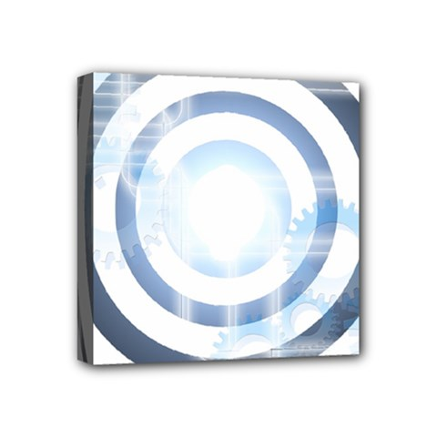 Center Centered Gears Visor Target Mini Canvas 4  X 4  by BangZart