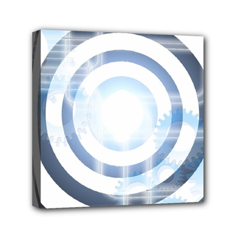 Center Centered Gears Visor Target Mini Canvas 6  X 6  by BangZart