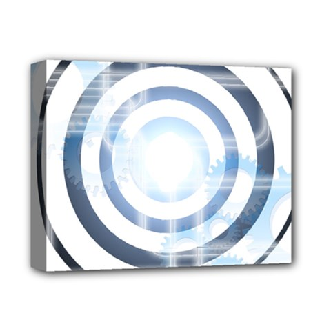 Center Centered Gears Visor Target Deluxe Canvas 14  X 11  by BangZart