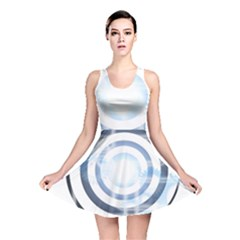 Center Centered Gears Visor Target Reversible Skater Dress