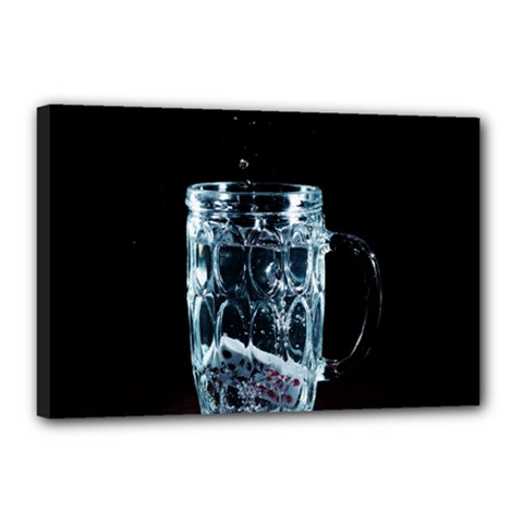 Glass Water Liquid Background Canvas 18  X 12  by BangZart
