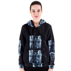 Glass Water Liquid Background Women s Zipper Hoodie by BangZart