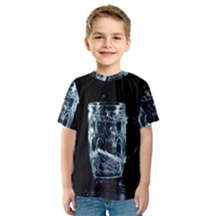 Glass Water Liquid Background Kids  Sport Mesh Tee