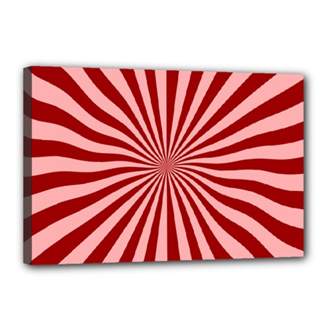 Sun Background Optics Channel Red Canvas 18  X 12  by BangZart