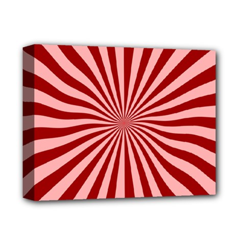 Sun Background Optics Channel Red Deluxe Canvas 14  X 11  by BangZart