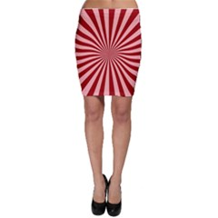 Sun Background Optics Channel Red Bodycon Skirt