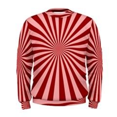 Sun Background Optics Channel Red Men s Sweatshirt