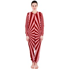 Sun Background Optics Channel Red Onepiece Jumpsuit (ladies)  by BangZart