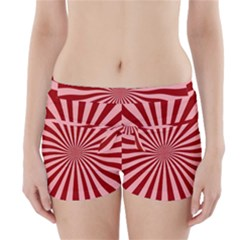 Sun Background Optics Channel Red Boyleg Bikini Wrap Bottoms