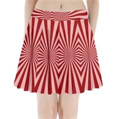 Sun Background Optics Channel Red Pleated Mini Skirt
