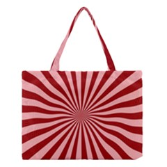 Sun Background Optics Channel Red Medium Tote Bag by BangZart